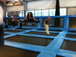Me at House of Air doing split